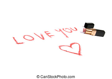 Lipstick and text love you