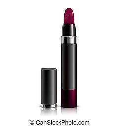 lipstick cherry colour vector illustration