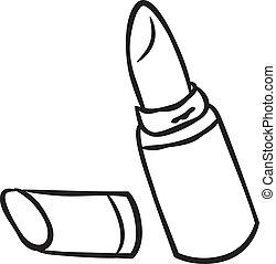 lipstick doodle