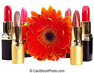 Lipstick group. Decorative cosmetics. - Lipstick group and ...