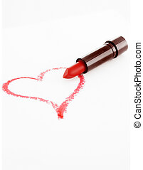 Lipstick heart - heart drawn in lipstick