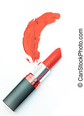lipstick, isolated on white with clipping path