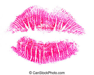 Lipstick Kiss - Image of red lips print