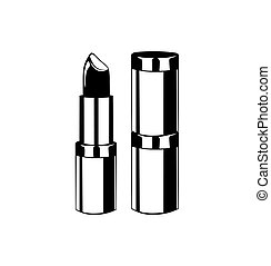 Lipstick. Lips Makeup. The Beauty Industry. Vector Illustration