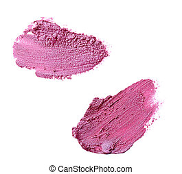 lipstick make up beauty smudged - close up of a smudged ...