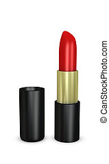 Lipstick - One 3d render of a red lipstick