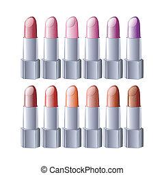 lipstick set - vector illustration