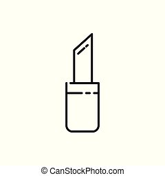 Lipstick Thin Line Icon Illustration Design