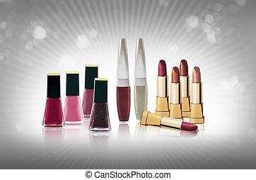 Lipsticks and nail polishes