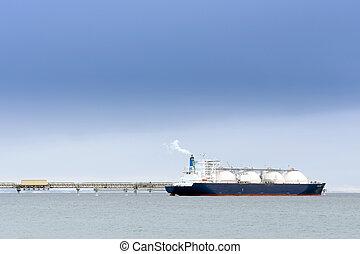 liquefatto, gas naturale, petroliera