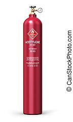 Liquefied acetylene industrial gas cylinder - Creative...