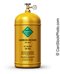 Liquefied carbon dioxide industrial gas container - Creative...