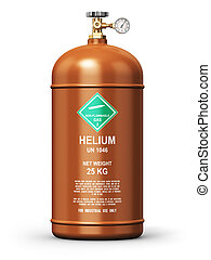 Liquefied helium industrial gas container