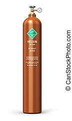 Liquefied helium industrial gas cylinder
