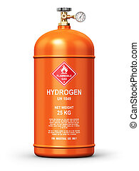 Liquefied hydrogen industrial gas container