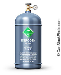 Liquefied nitrogen industrial gas container - Creative...