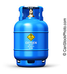 Liquefied oxygen industrial gas container