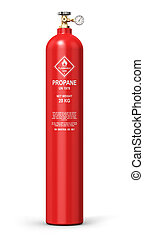 Liquefied propane industrial gas cylinder - Creative...