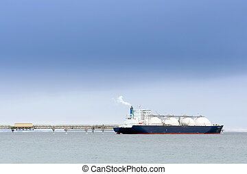 liquefied, tankfartyg,  gas, naturlig