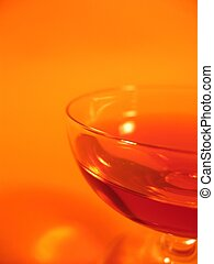 Liqueur Glass II - A close-up of a glass with red liqueur on...