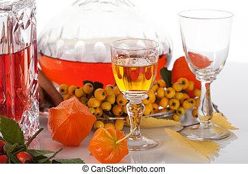 liqueurs, coloré, fruits