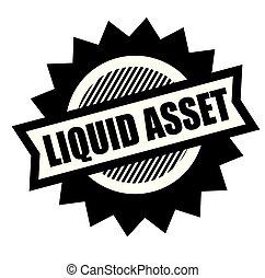 liquid asset stamp on white