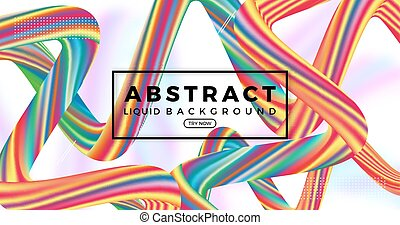 liquid background with abstract element