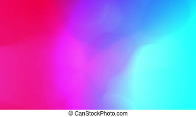 Liquid color organic animation. Fluctuation of pink and light blue colours