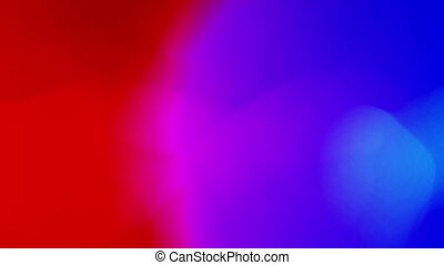 Liquid color organic animation. Fluctuation of red and blue colours