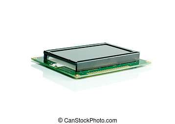 Liquid crystal display module isolated on the white...