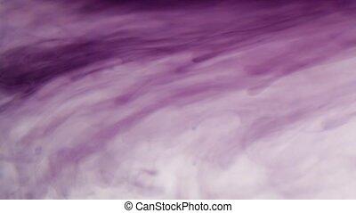 Liquid dark magenta cloud - Magenta ink in water, time lapse