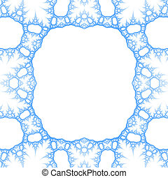 liquid foamy matter of blue color on a white background