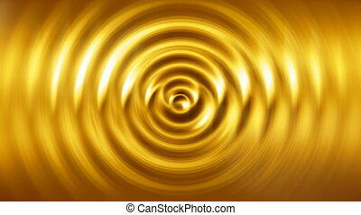 Liquid gold abstract motion background seamless loop