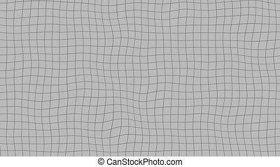 Liquid gray grid, loopable animation - Transforming mesh,...
