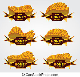 liquid honey jar vector art design