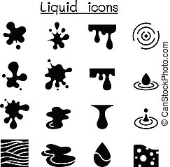 Liquid icon set