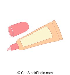 liquid makeup foundation in a tube icon