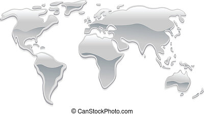 Liquid metal world map