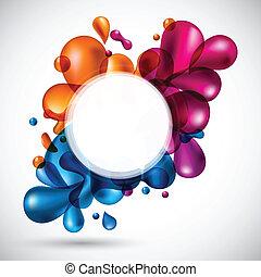 Liquid multicolor background.