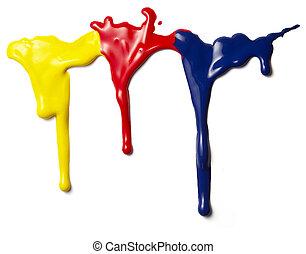 liquid paint drop