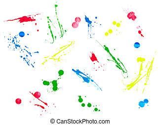 liquid paint drop color strokes