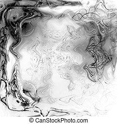 liquid plasma - black and white liquid plasma background