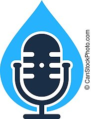 Liquid Podcast Logo Icon Design