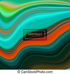 Liquid pouring colors. Abstract artistic background....