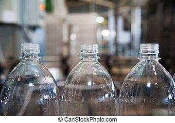 Liquid, pouring, detergent bottle