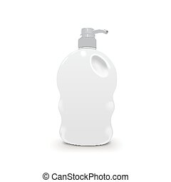 shower gel plastic bottle