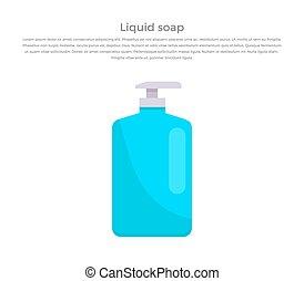Liquid Soap Concept Banner Vector Illustration.