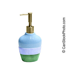 Liquid soap container isolated on white background