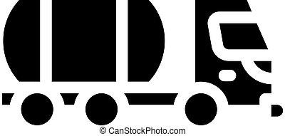 liquid transportation truck glyph icon vector illustration