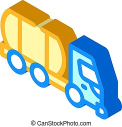 liquid transportation truck isometric icon vector illustration